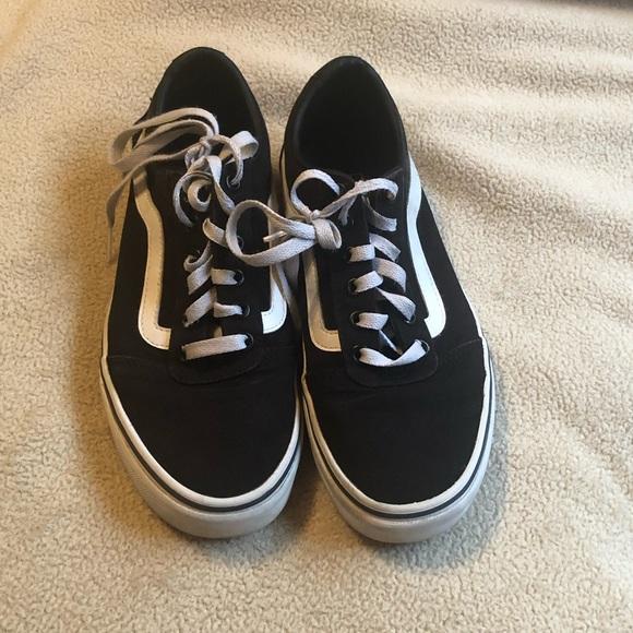 Vans Shoes   Black Vans Laceup Vans